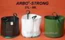 Paleta kolorów Pojemników szkółkarskich ARBO®-STRONG. Kolor Biały oraz Zielony na zamówienie klienta przy większych zamówieniach